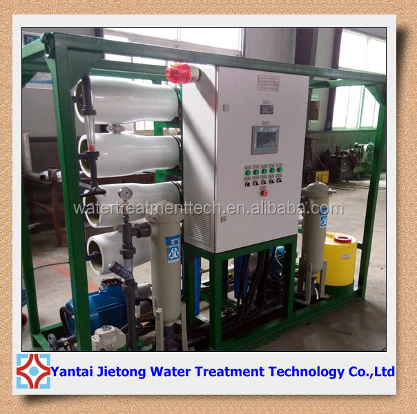 Small Mobile Salt Water Treatment Equipment 50T/D , Water Desalination Plants For Sale