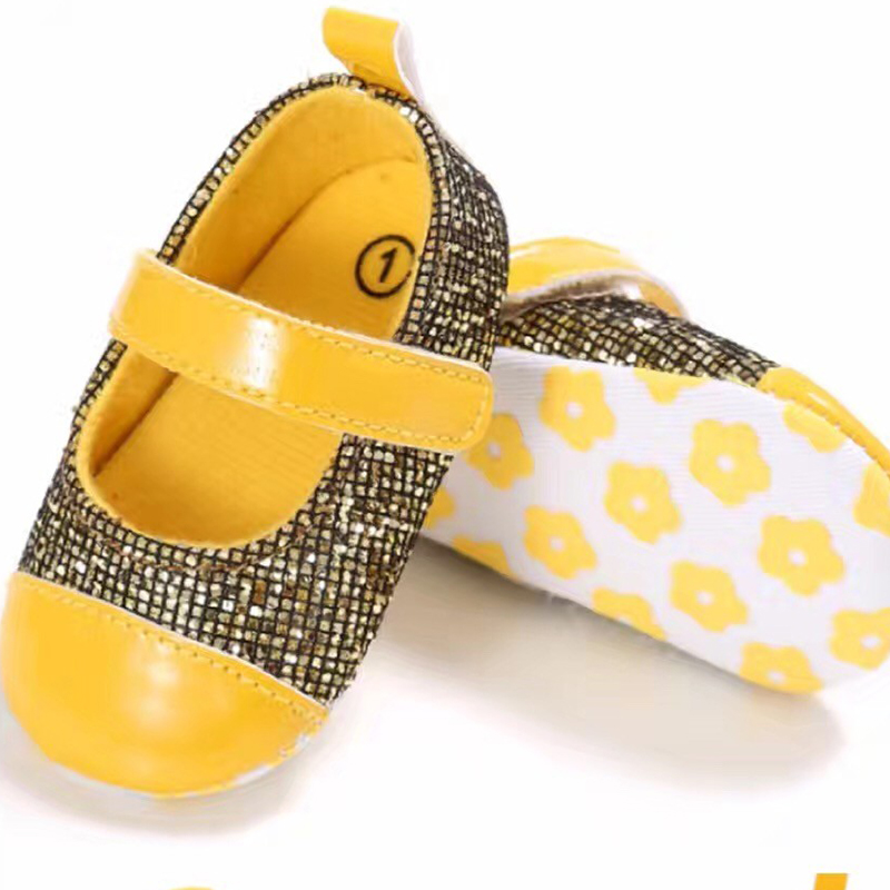 2017 fashion sequins popular cheap infant shoes sequin strap baby shoes