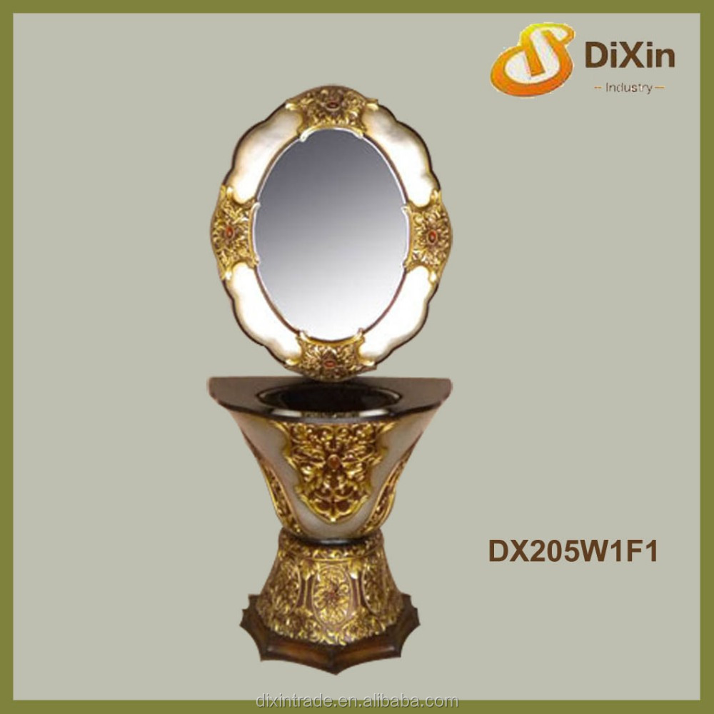 Fashion color sanitary ware resin gold wash basin for bathroom