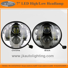 "High Quality 7"" LED Head lamp for Land Rover Defender 90 Super Bright LED HeadLights for Land Rover Defender 90 1997"