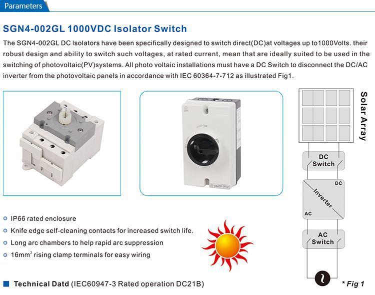 Solar Pv Dc Isolator Switch Air Circuit Breaker Buy Air
