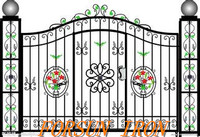 China automatic wrought iron gates for sale