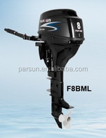 4 stroke 8hp outboard motor / manual start / tiller control / long shaft / F8BML / PARSUN