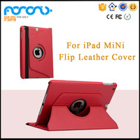 360 Rotating Stand Flip PU Skin Cover Case For ipad mini Tablet