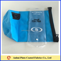 Customized 500D PVC Waterproof tarpaulin Bag With Shoulder Straps