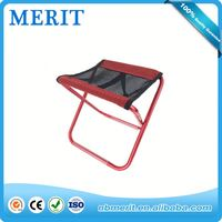 Super quality discount mini red padded folding chair stool,creative pp folding fishing chair cover stool