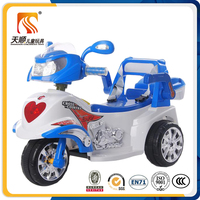 EN71 approved electric power plastic kids three wheel Ride on motorcycle for sale