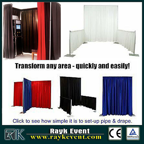 Singapore wholesale foldable photo booth/ curtains and drapes