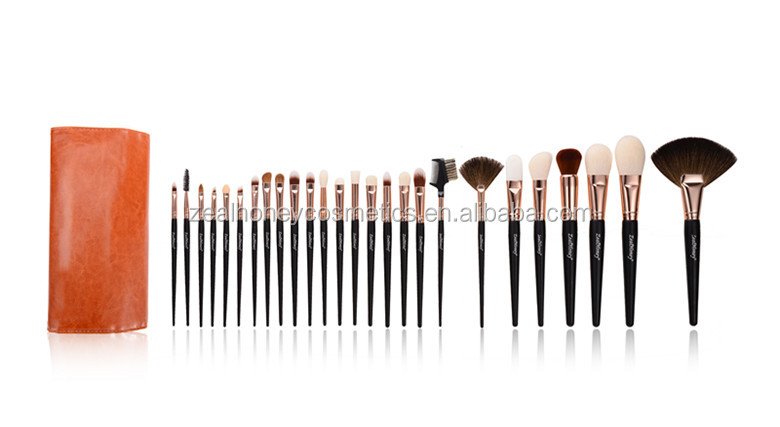 Zealhoney 26pcs makeup brush pro factory hand make cosmetic brush set wholesale