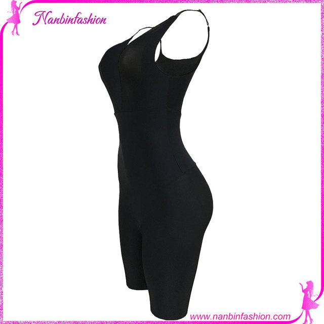 Seamless v neck black slimming pants body shaper