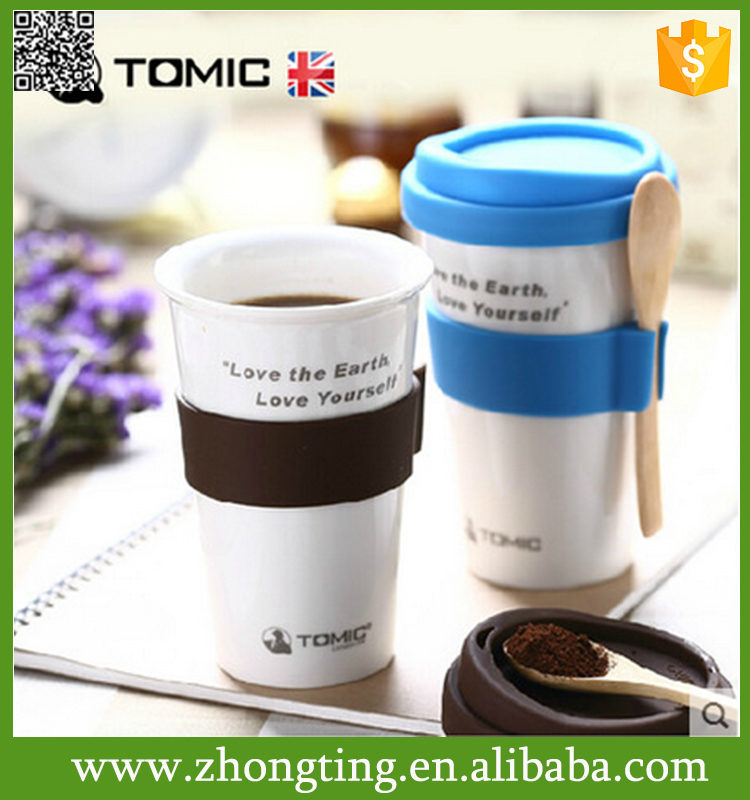 Personalized printing ceramic double walled coffee cheap crockery cup prices