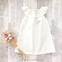 Wholesale plain custom baby clothes dress kids frock designs pictures of baby dress