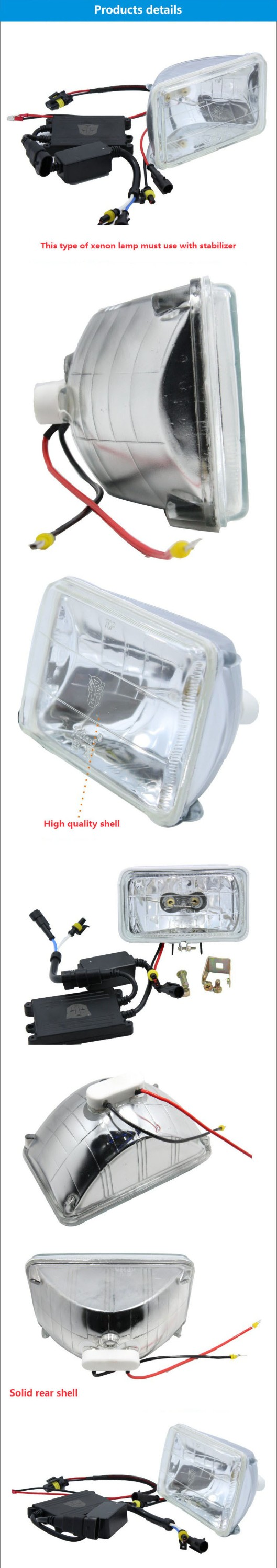 12v 24v universal vw jetta projector headlight