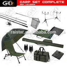 Carp Set Complete and Fishing Tackle Set and Fishing combo set green carp fishing bivvy