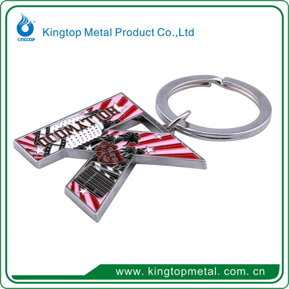 custom promotional key ring,guitar shape metal key ring