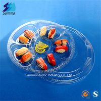 Plastic Disposable OPS Clear Sushi Container