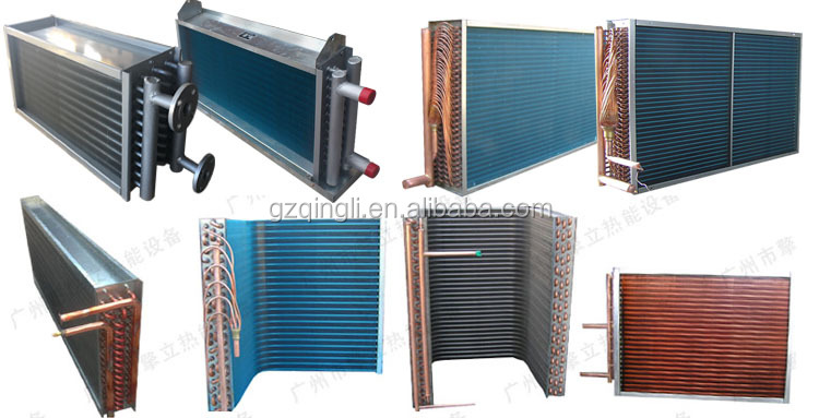 Customized copper tube freon water air heat exchanger
