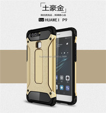 Wholesale TPU + PC tire armor shockproof phone case for huawei P9