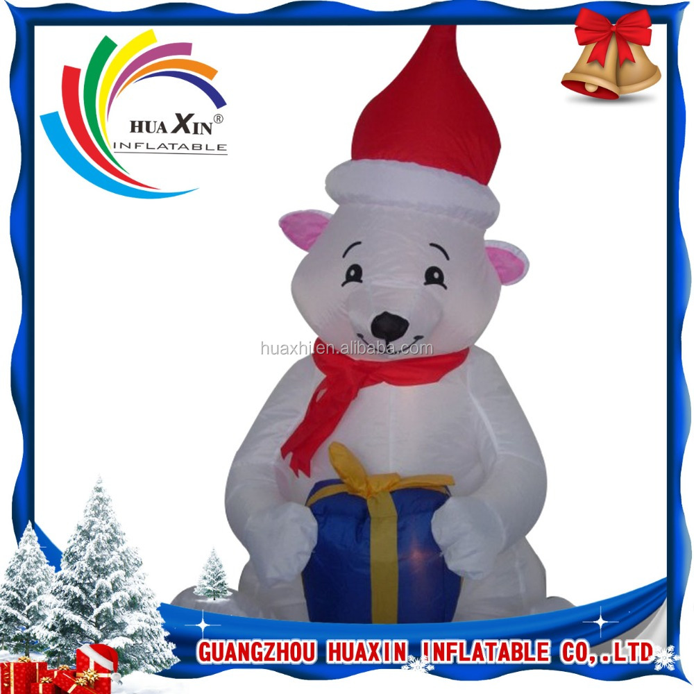 2016 Hot selling inflatable christmas ornaments / christmas polar bears decoration for sale