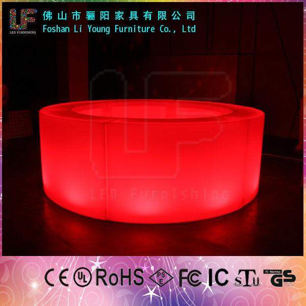 현대 야외 PE 플라스틱 빛 led 바 테이블 야외 이벤트 테이블 조명 ...