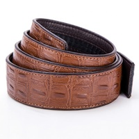 BY Real Crocodile Belt Genuine Leather Without Buckle for Men in Width of 35mm
