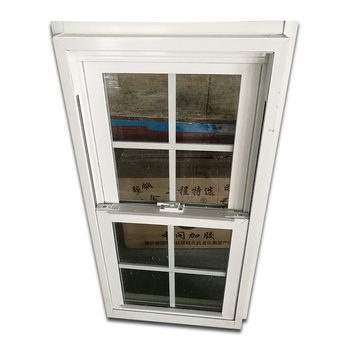 American style PVC double hung window vertical sliding UPVC window sash window china factory price high quality soundproof