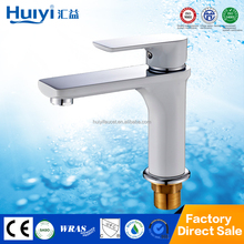 High standard white paint and chrome plated watermark wash hand basin tap models HY-50032