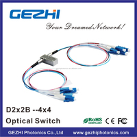 High Stability Dual 2x2 Bypass mechanical Fiber Optical Switch with good price