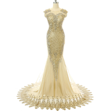 Apparel wedding floor-length bridal long tail appliqued organza bodycon suit for women high-end dress gold