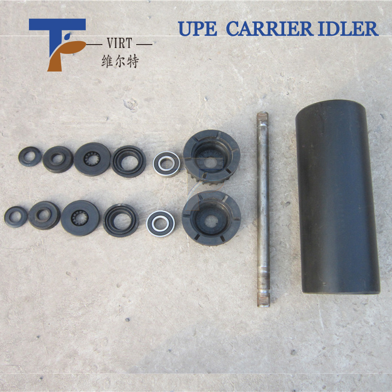 Belt conveyor hdpe roller for Assembly Line Conveyor Belt hdpe Tube Return Idler For Conveyor Spare Parts/CEMA