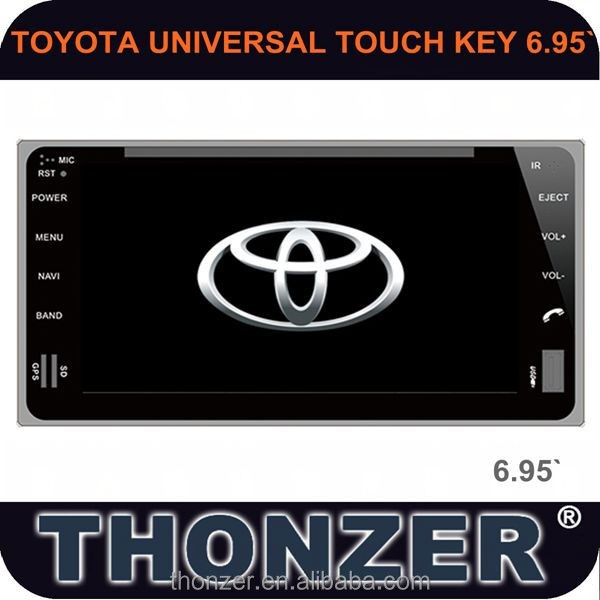 Newest! 6.95 inch TOYOTA UNIVERSAL TOUCH KEY Car DVD Player