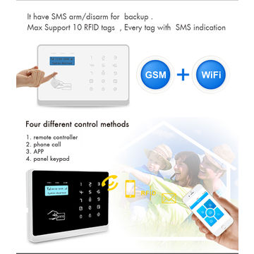 2017 Smart home WIFI +GSM Alarm home Automation Security System in French Russian Italian Spanish Germany language