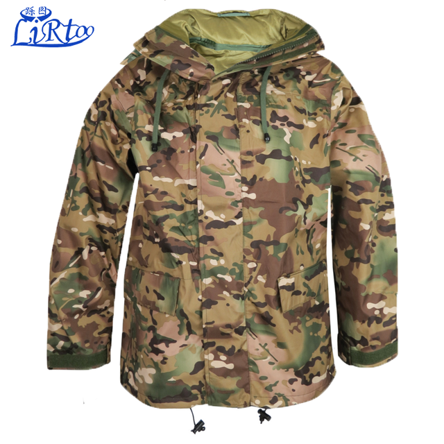Custom waterproof breathable camouflage parka design winter warm fur jacket for army