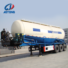 3 axles 50ton low density carbon steel bulker powder cement tanker trucks bulk cement semi trailer for sale