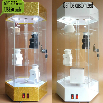 Advertising Acrylic light box display stand with door and lock
