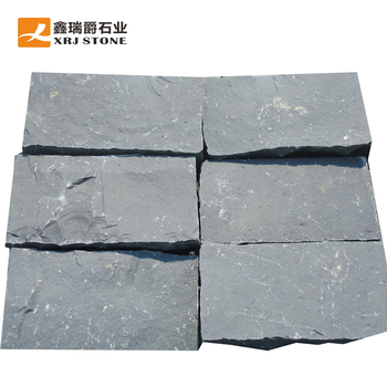 natural split black basalt rock for sale