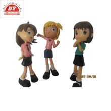 custom make plastic cartoon baby doll with articulation