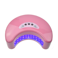 Top Seller 2015 Professional Led nail lamp mini 12w moon shape uv led nail lamp