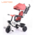 Direct factory new model mother push children toddler 3 in 1 large cnanopy baby tricycle with rear basket and pushbar singapore