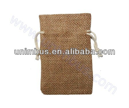 natural jute jewelry bag,burlap drawstring jewellery pouch