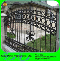 Iron Metal Type and powder Coated Finishing metal lattice fence