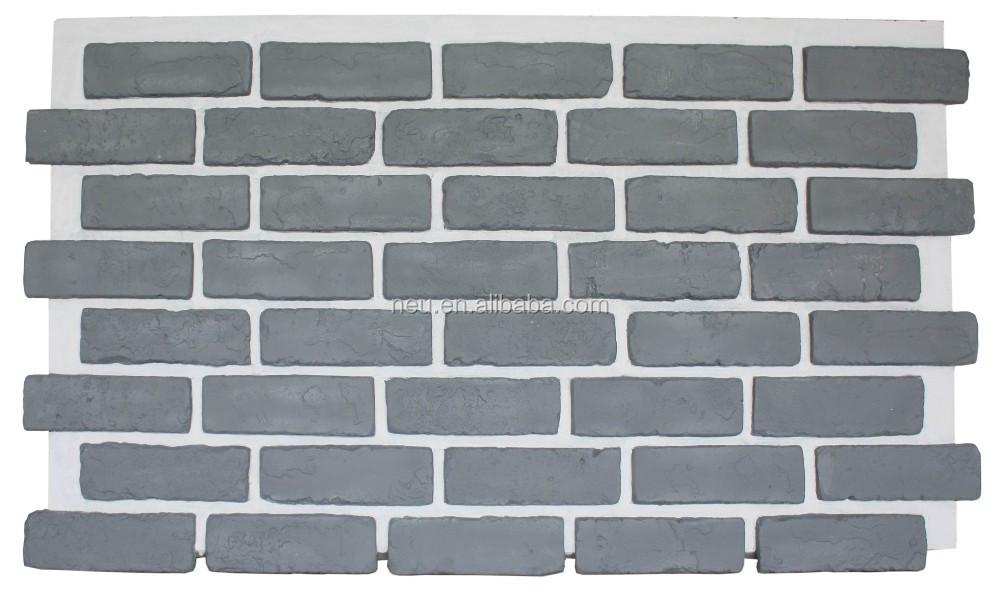 Pu falso ladrillo impermeable panel de pared interior o exterior imitaci n ladrillos paneles - Panel imitacion ladrillo ...
