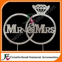 Mr & Mrs Mr. and Mrs. Rhinestone, Silver Wedding Cake Topper Decoration Bridal