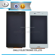 Cheap price!for sony xperia z3 e6553 lcd with touch glass frame display