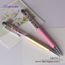 Bling Crystal Multi Function Ballpoint and Stylus Slim Crystal Pen For Capacitive Touch Screen Device