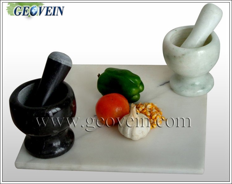 Wholesale Polished & Honed Stone Mortar And Pestle Set Crushing Tool With Polished Surface
