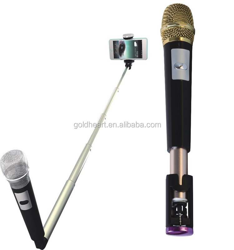 New products 2017 innovative product photographic equipment,wired mobile phone selfie stick with microphone for smartphone