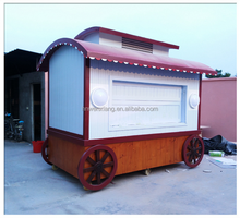 2017 New outdoor wooden food cart kiosk