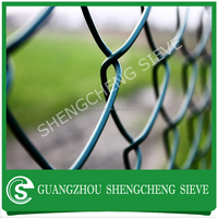 Plastic coated 1 inch chain link fence 8 gauge chain link fence