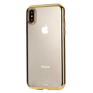 Ultra thin transparent electroplate TPU case,clear case for iPhone x silicon cover